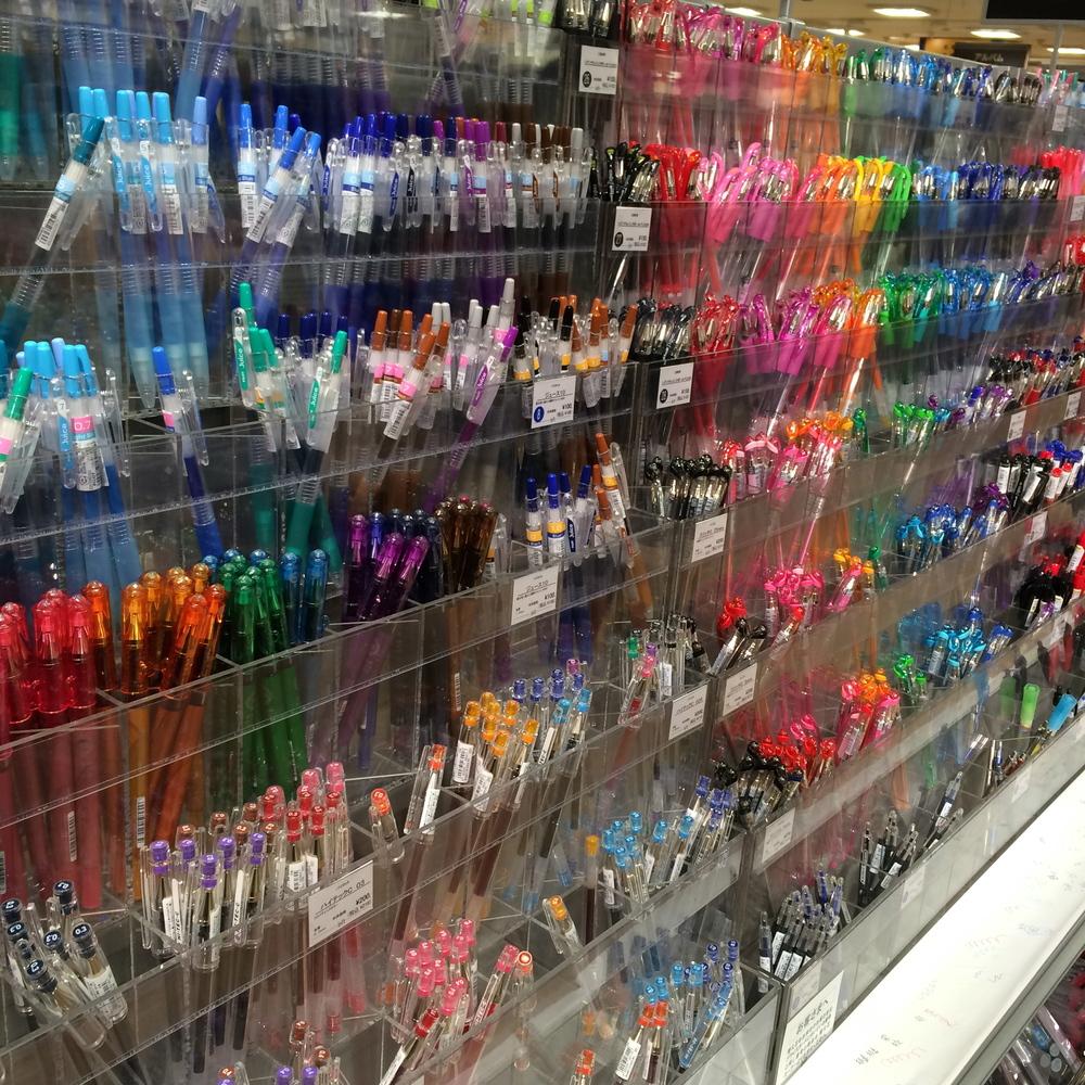 Many, many pens