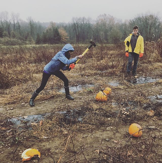 You're not hardcore unless you live hardcore.  Come smash some pumpkins at the farm tomorrow at 2 pm.