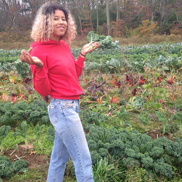 Our student farmer feature for today is... Sahara Ndiaye, '20! Swipe to learn more!
