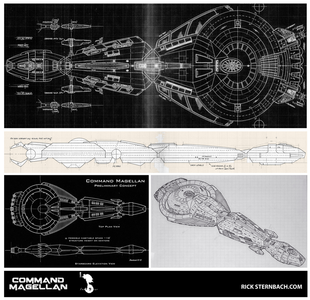 Rick Sternbach   Magellan  ship design.