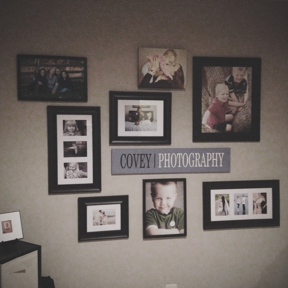 SNAPSHOT: This is how I display my favorite photos! This is my gallery wall in my residential studio. I change the photos here several times a year!
