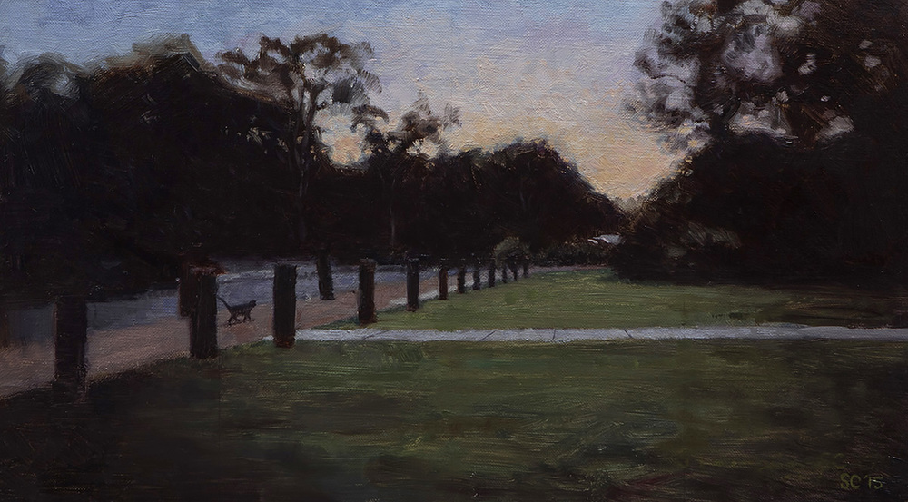 """ Twilight Cat "" - 40 x 22.5 cm - Oil on canvas -   SOLD"