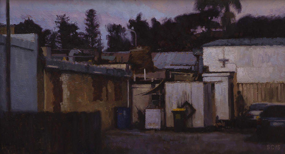 """ Behind Ibiza "" - 40 x 22.5 cm - Oil on board -  SOLD"