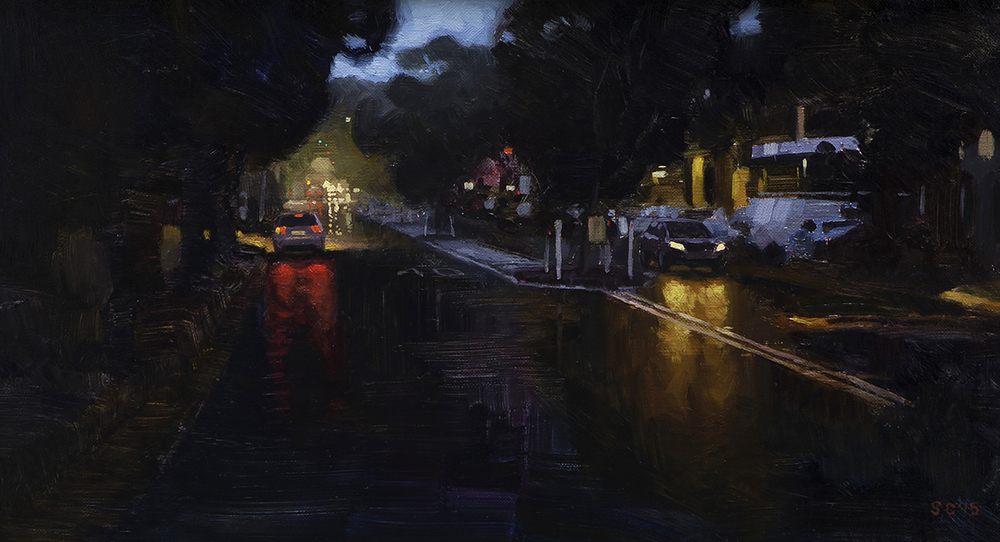 """ Old Barrenjoey Road "" - 40 x 22.5 cm - Oil on board -  SOLD"