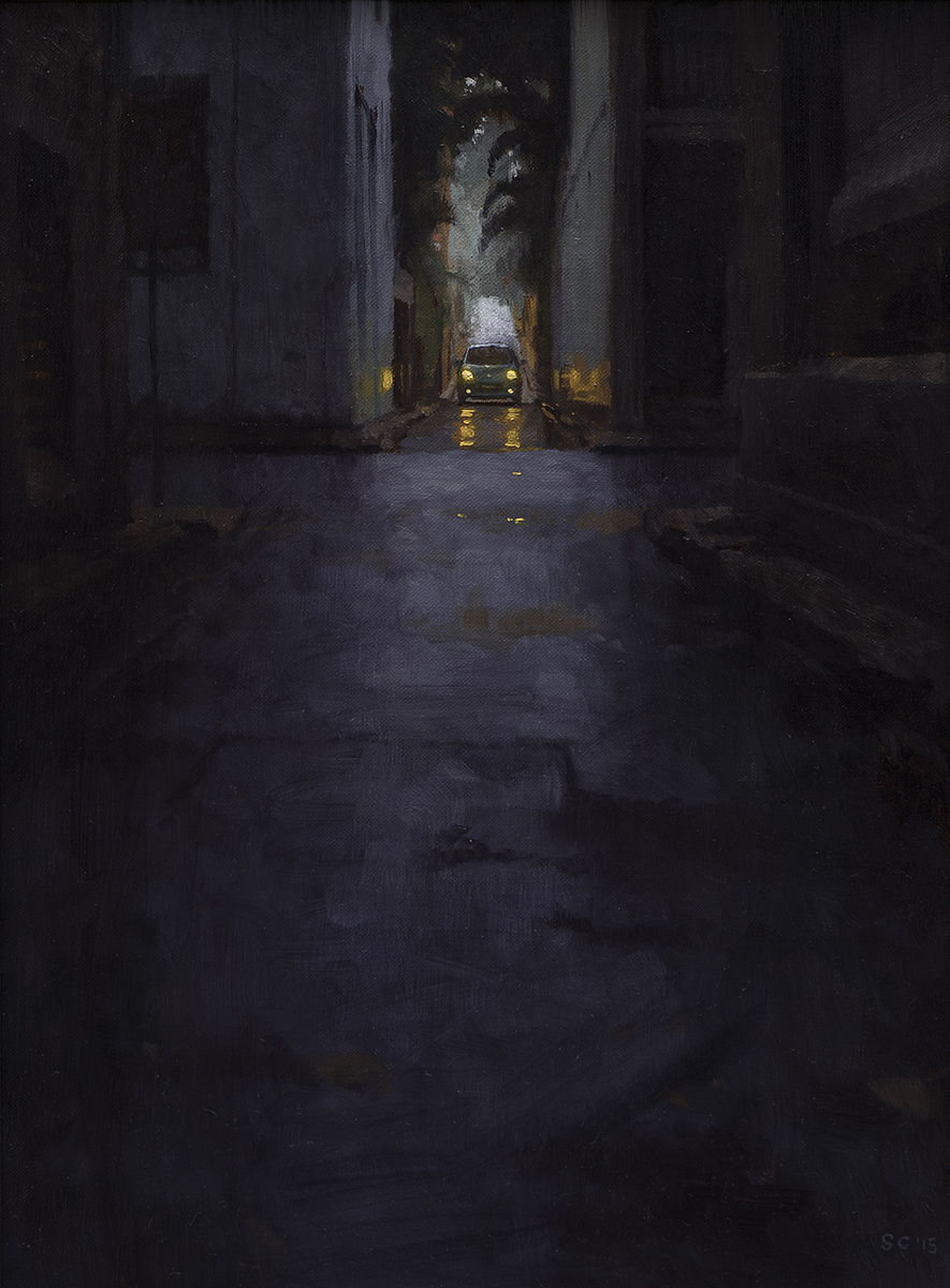 """ Chippendale Lane "" - 30 x 40 cm - Oil on canvas - $410"