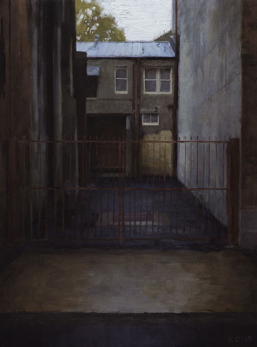 """ Chippendale Gate "" - 30 x 40 cm - Oil on canvas - SOLD"