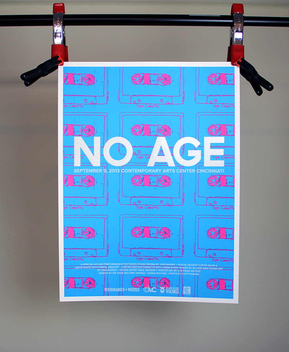 No Age poster by WHBV and V+V