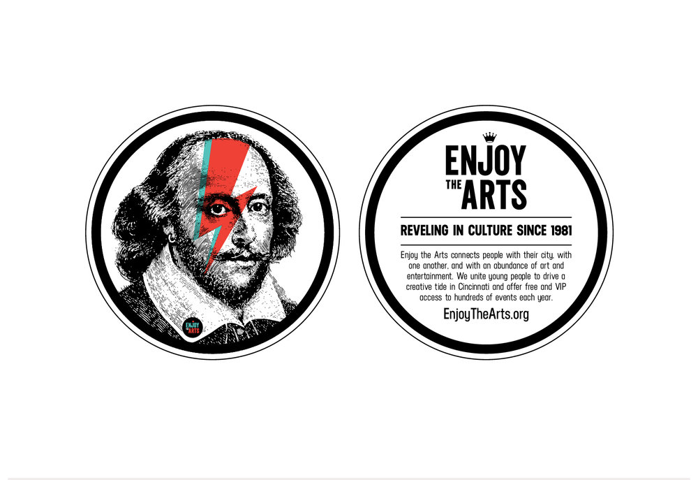 Enjoy the Arts Coasters / Stickers