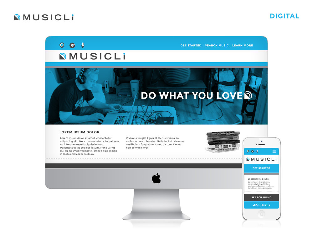 MusicLi Website Design