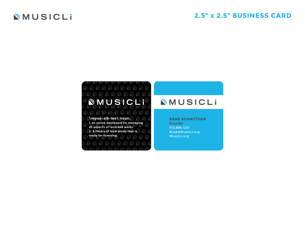 MusicLi Business Cards