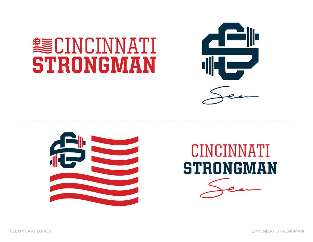 Cincinnati Strongman Secondary Logo