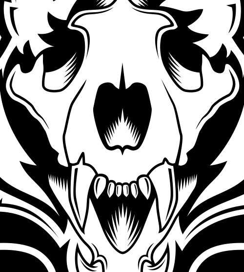 Bengals Skull Illustration