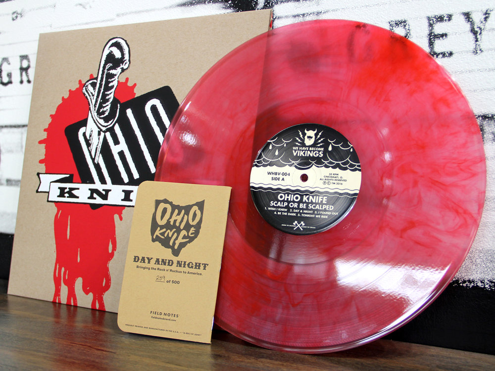 "Ohio Knife Scalp or Be Scalped 12"" limited-edition with Field Notes, collaboration with Art Chantry and Aaron Draplin"
