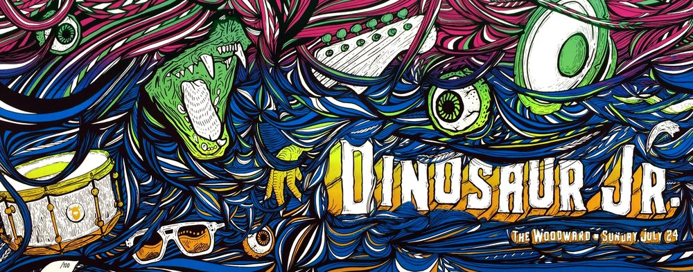 Dinosaur Jr Poster, Finished Designed, Digital