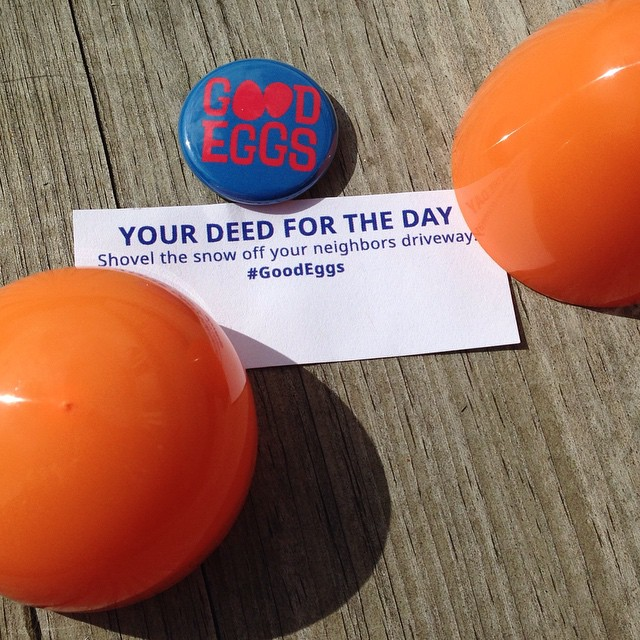 Get involved, become a Good Egg with doing a deed a day