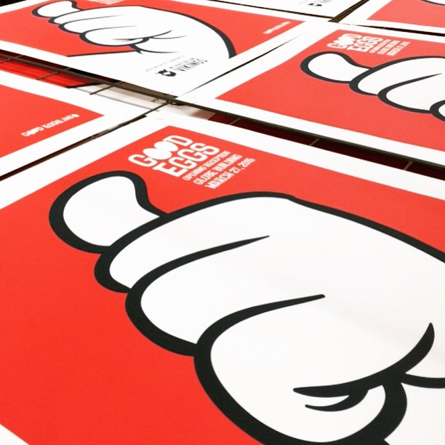 "Silkscreen hand-pulled, limited edition 2-color 18"" x 24"" poster prints"