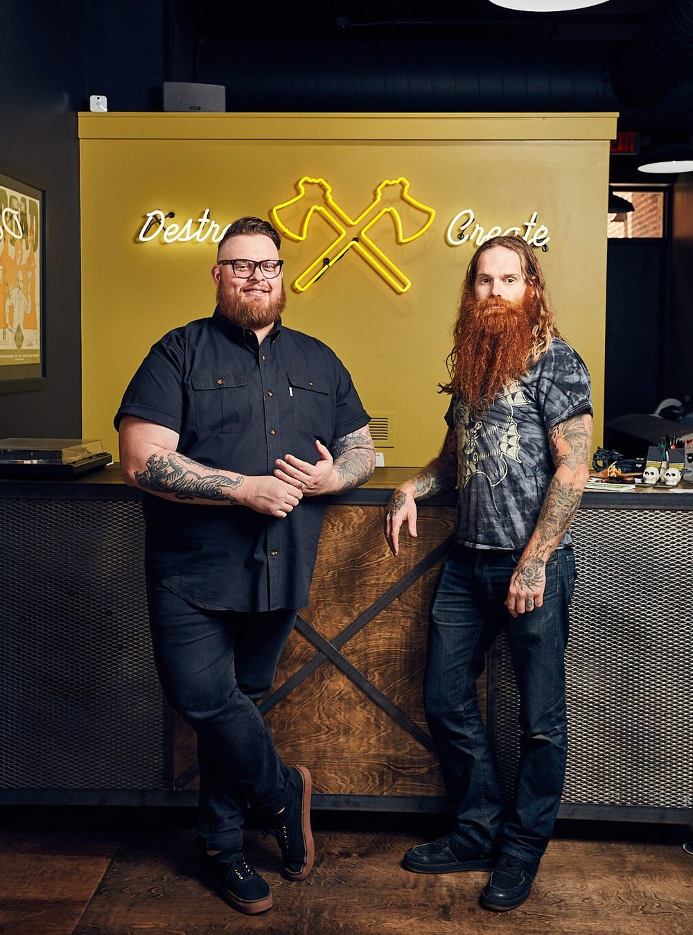 Jason Snell & Brandon Hickle, Partners, We Have Become Vikings, Photo By Jeremy Kramer