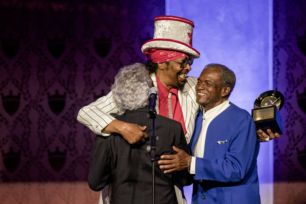 These three legends haven't been on-stage together in decades. Celebrate the King: Honoring 75 Years of King Records with Bootsy Collins, Philip Paul and Otis WIlliams