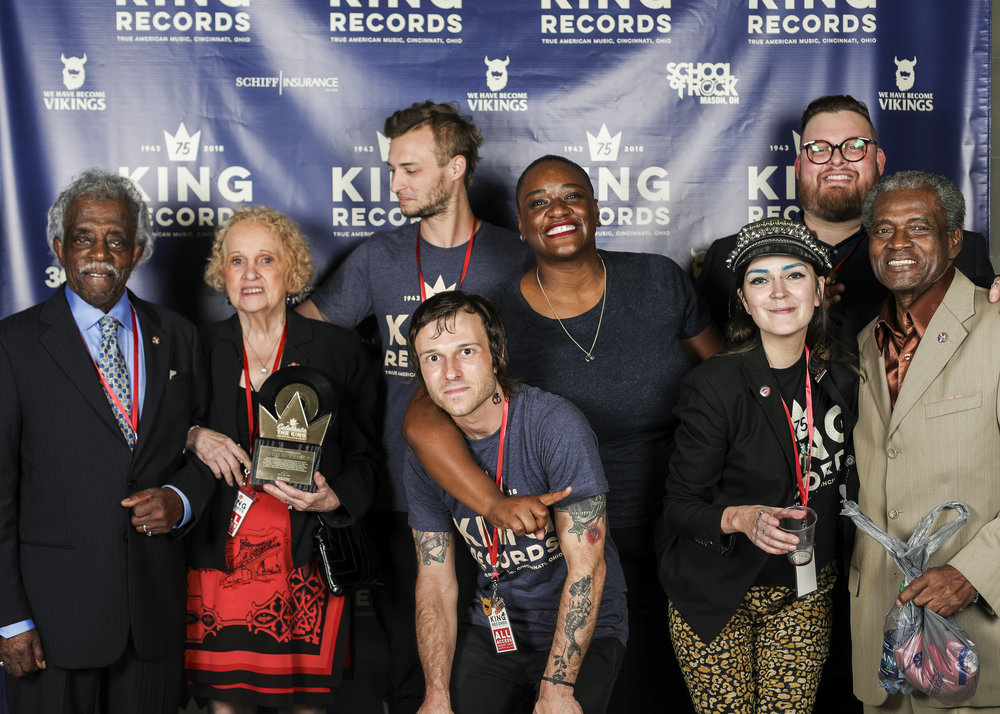 "SQUAD! These people helped make ""Celebrate the King: Honoring 75 Years of King Records"" possible. We're missing a handful of folks here, shout out to Megyn Norbut and Steve Ramos, and yup a few more – Get hip to King Records, the birth of ""True American Music."""