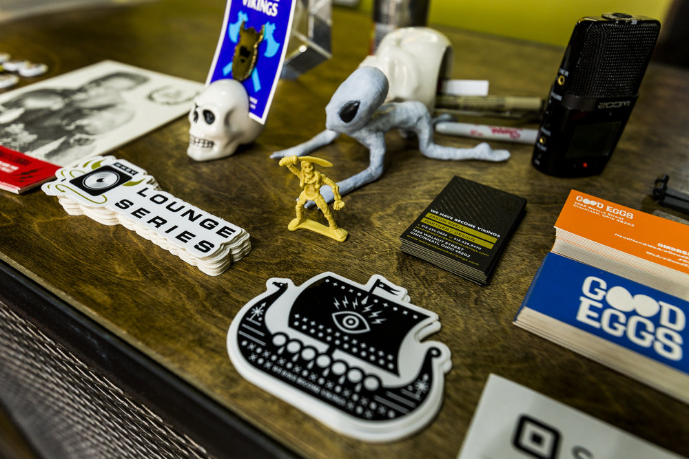 Keep Punching Up, WHBV Stickers and Goodies at the WHBV POS at the 1355 Walnut Street, 45202. Photo by Hailey Bollinger