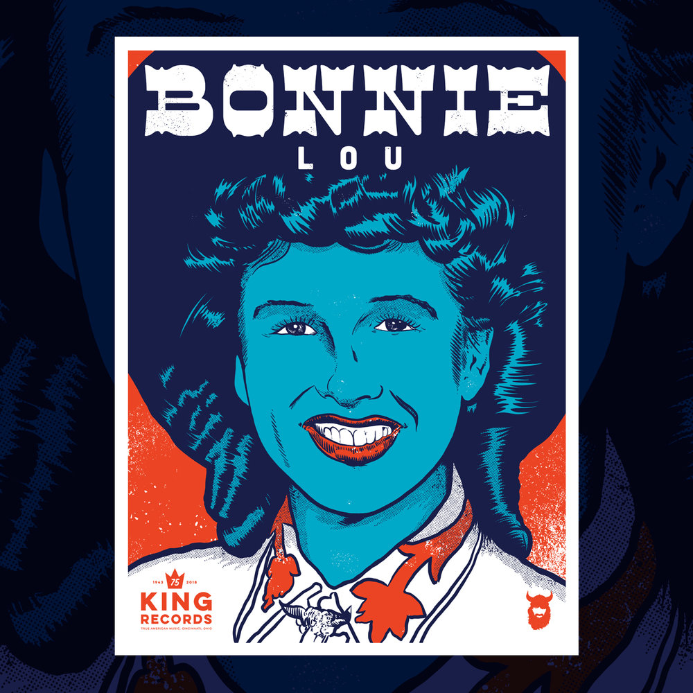 Bonnie Lou, King Records 75th Poster Series 1