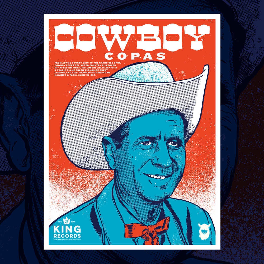 Cowboy Copas, King Records 75th Poster Series 1