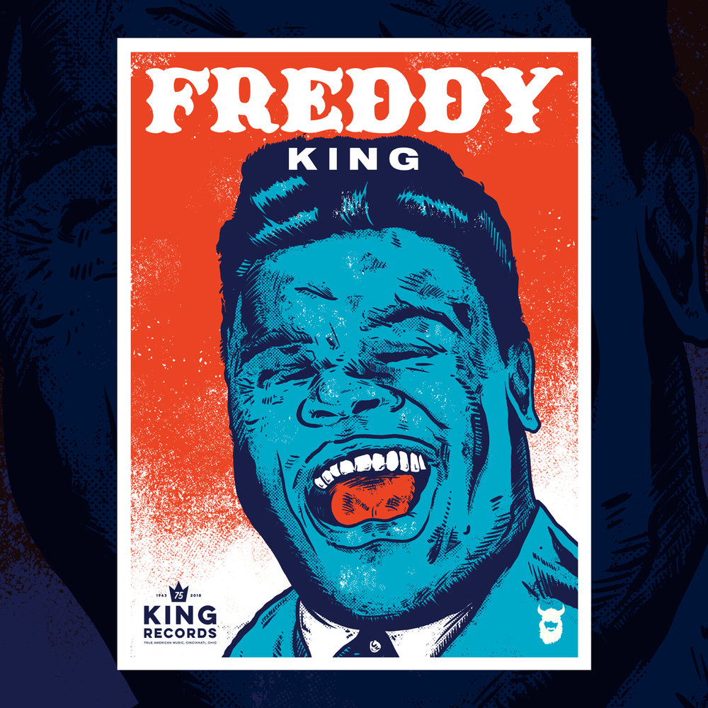 Freddy King, King Records 75th Poster Series 1