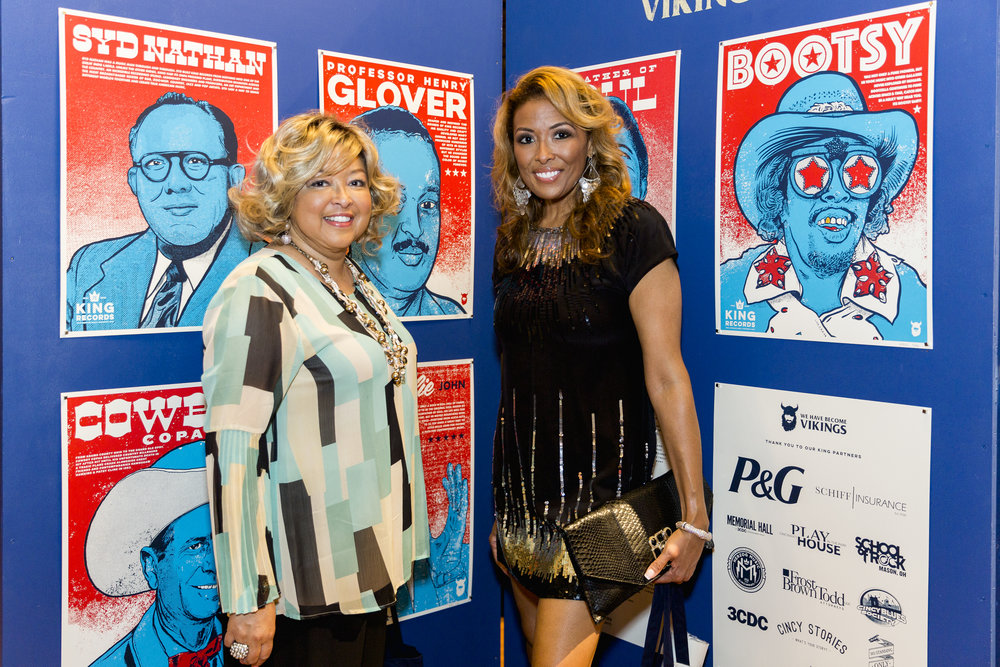 Sherry and Lauren Scott, grand & great-grand daughter of the late Henry Glover of King Records.