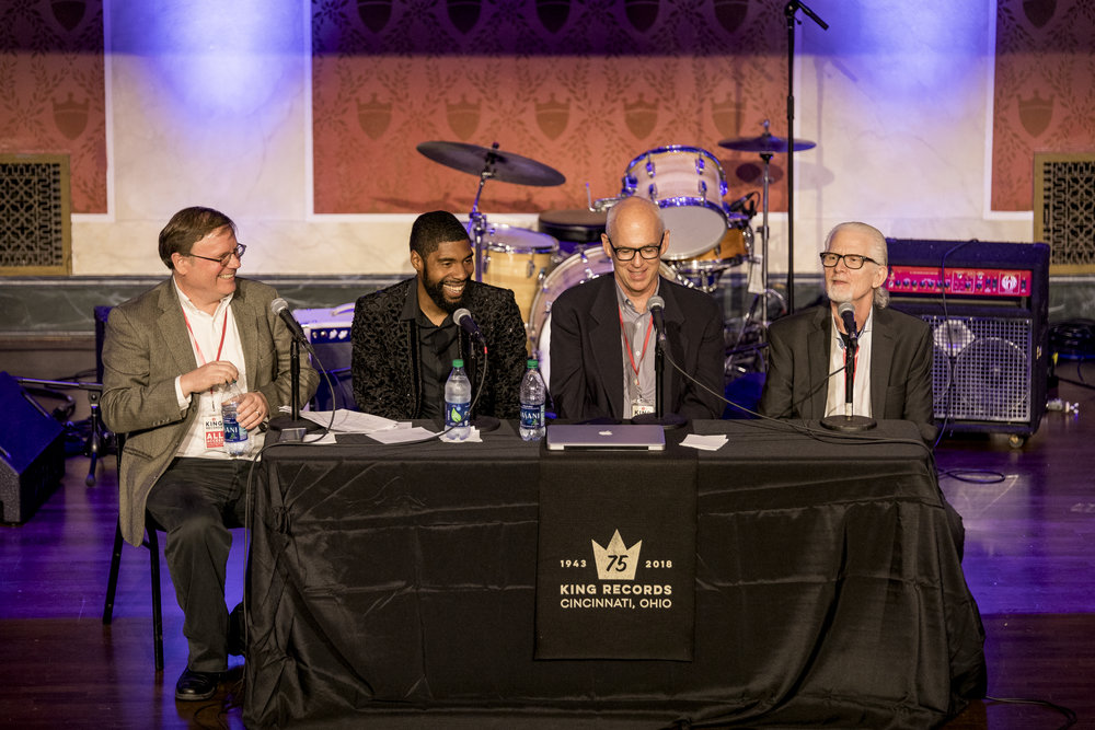 Brian Powers leads the James Brown Productions Panel with Kick Lee, RJ Smith and Alan Leeds, James Brown's Manager.