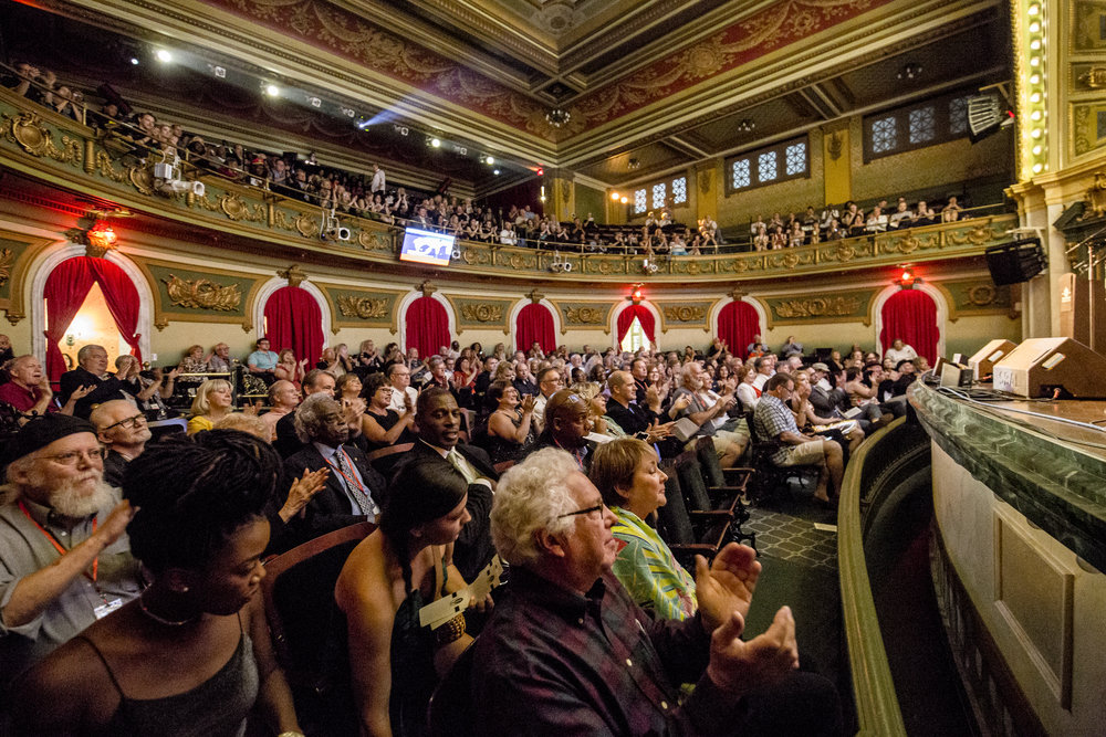 Great looking crowd at Memorial Hall for Celebrate the King