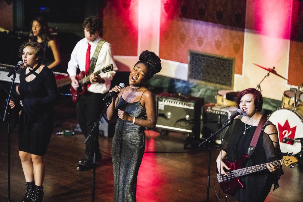 "Lauren Eylise with School of Rock Mason performing ""Fever."""