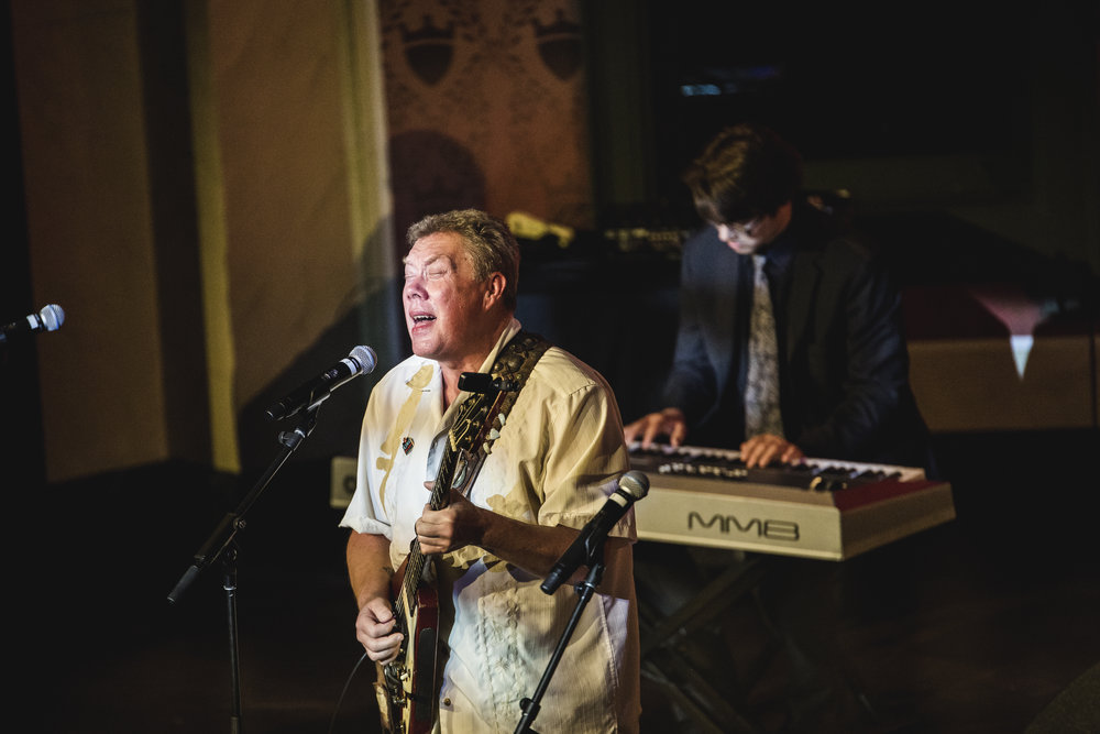Sonny Moorman performing with School of Rock Mason.
