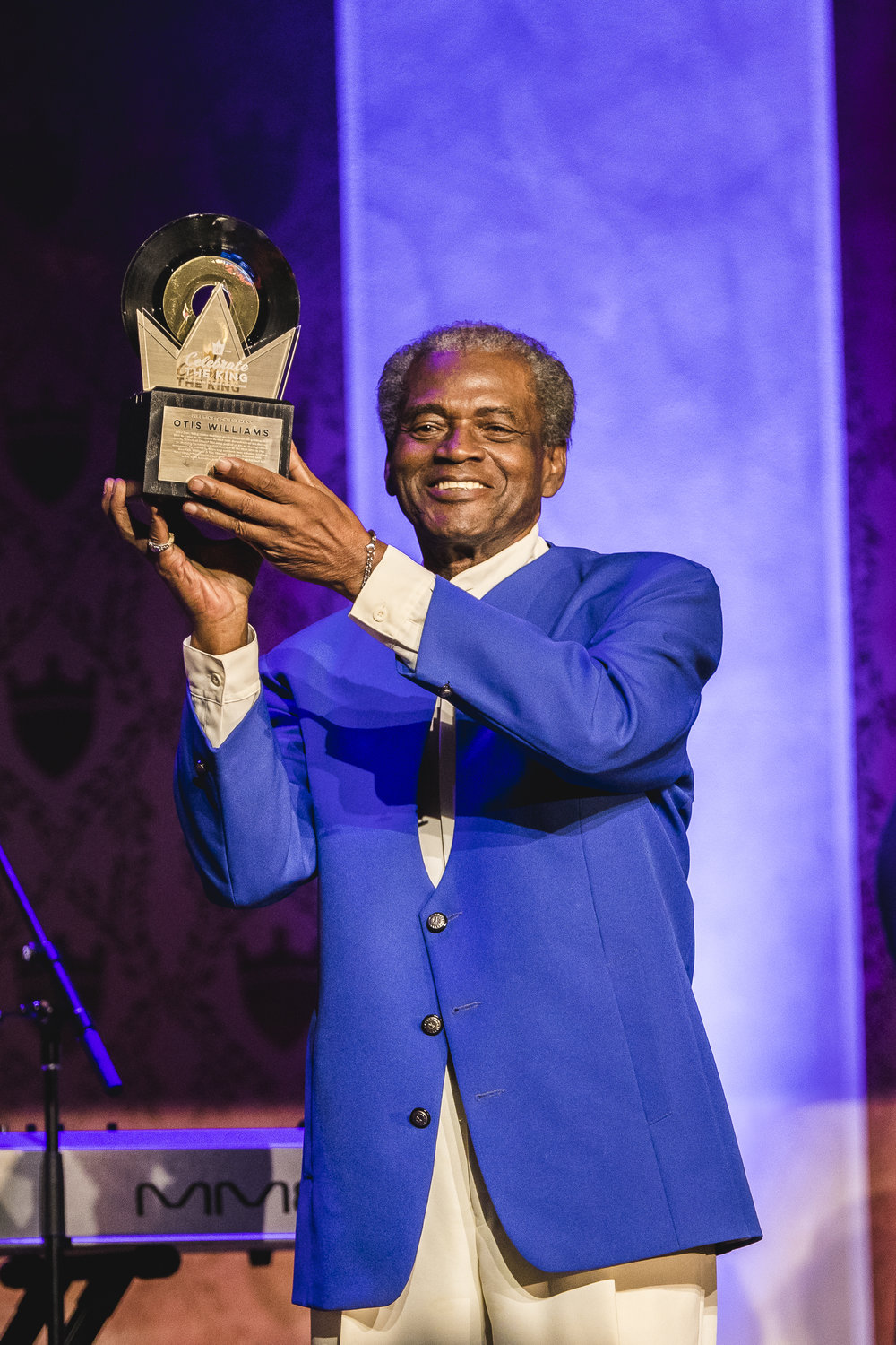 The original man of Doo Wop, Mr.Otis Williams, accepting his Lifetime Achievement at Celebrate the King.