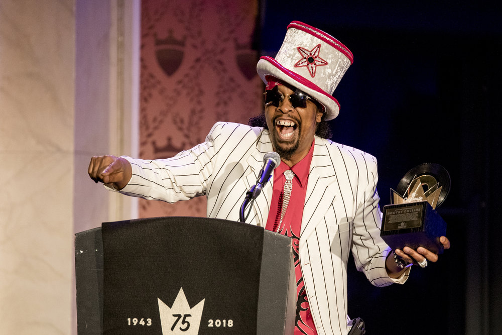 Bootsy Collins Celebrates the King with his King Records Lifetime Achievement Award.