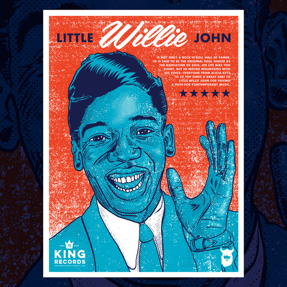 Little Willie John, King Records 75th Poster Series