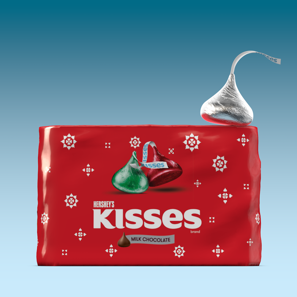 Hershey's Kisses new holiday packaging