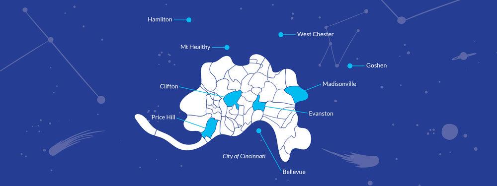 Starfire Cincinnati Map