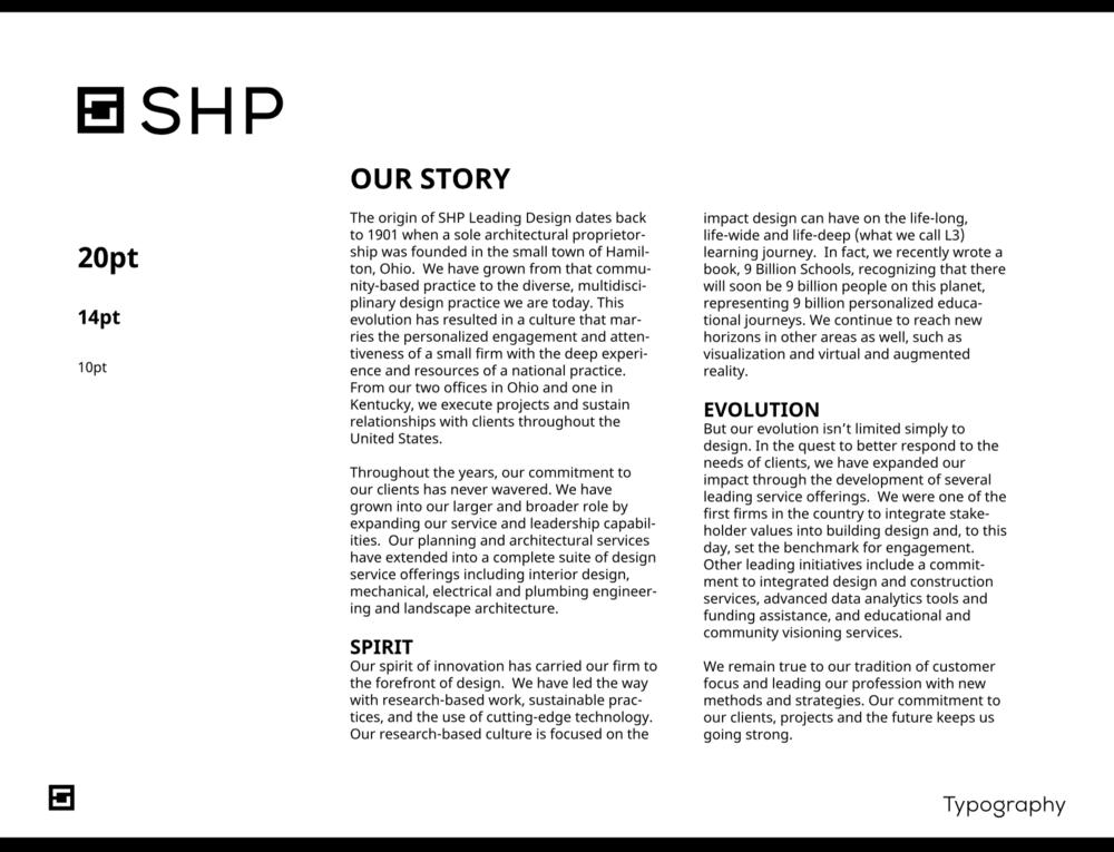 Type usage & storytelling