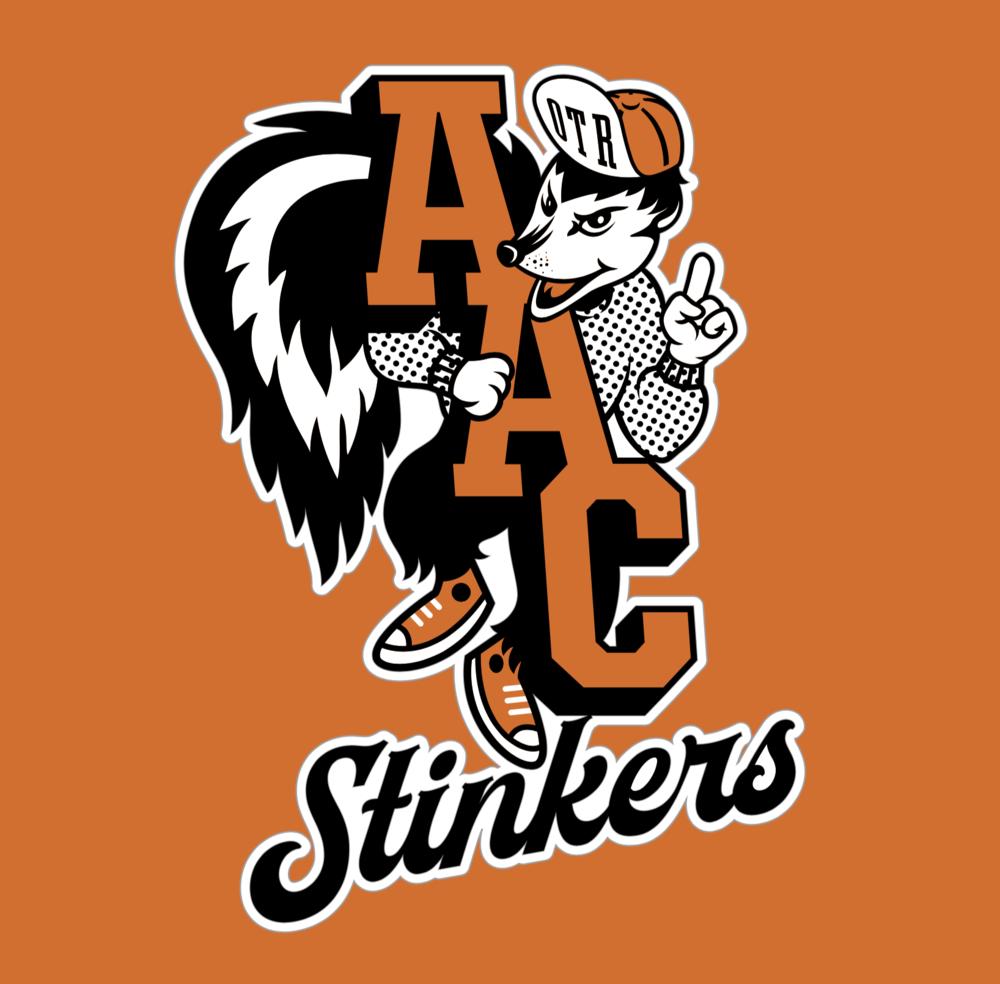 """AAC """"Stinkers"""" mascot"""