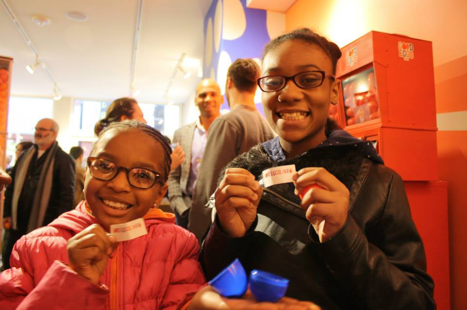 Kids and adults of all ages celebrate at the Good Eggs opening at People's Liberty