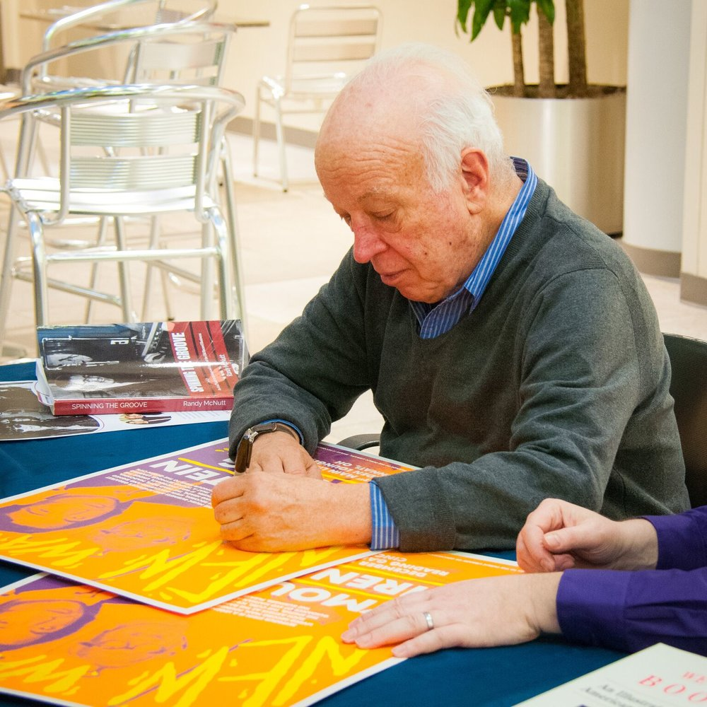 Seymour Stein signing print