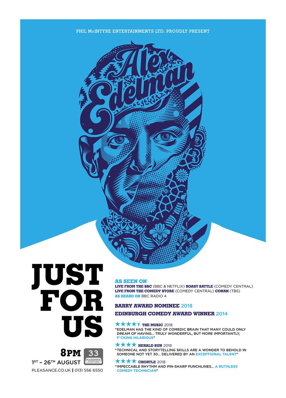 Just for Us - Alex Edelman Ed Fringe Poster