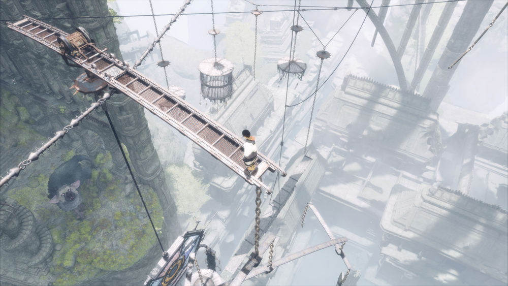 Acrophobes beware: The same dizzying, vertical architecture of Ico returns in The Last Guardian. I had sweaty palms for the majority of the second half of this game, when things go really sky high.