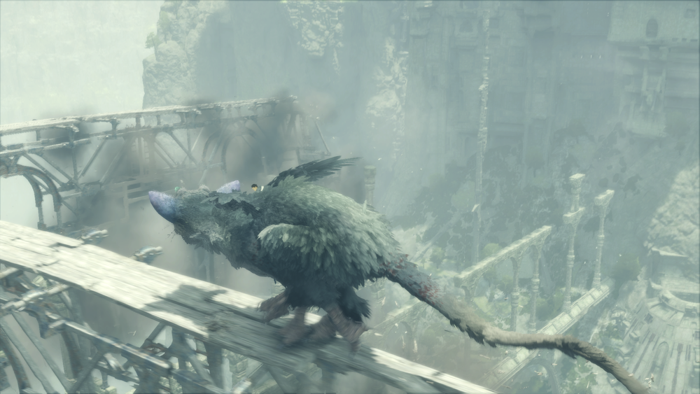 Trico is a dogbirdcat of action.  The Last Guardian  features moments that will rouse even the most cynical gamer.