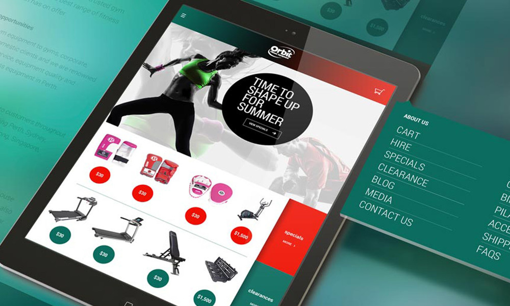 Orbit Fitness Web Redesign