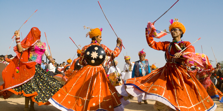 Colourful traditional events during the festival
