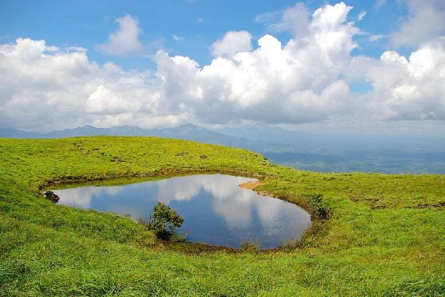 Heart shaped lake near Chembra peak
