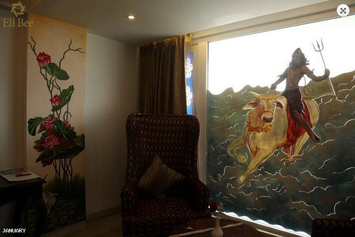 Shiva Painting inside the Deluxe Room Image Credit: Ell Bee