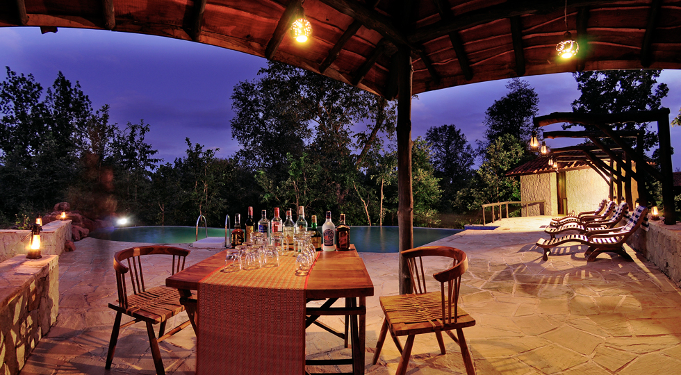 Pool Area_Kanha Earth Lodge
