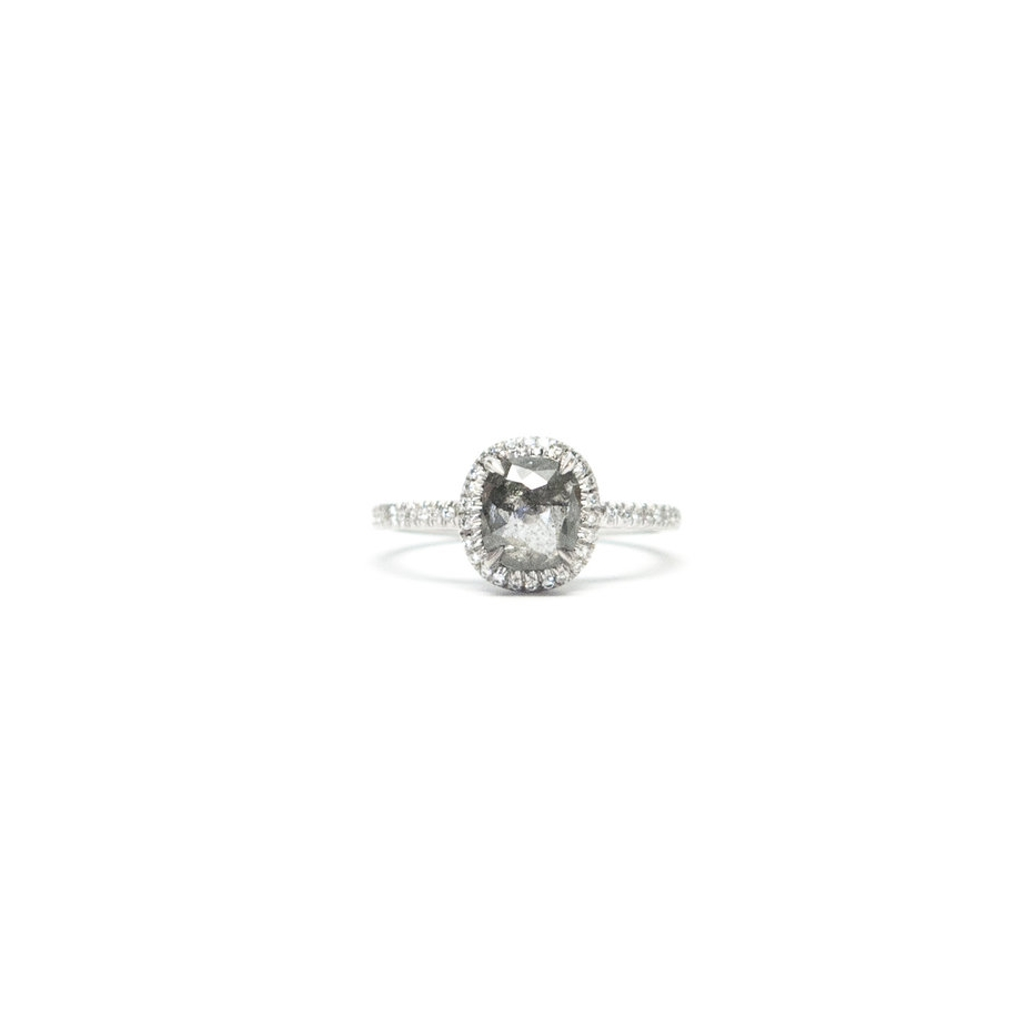 Mary MacGill Grey Diamond Engagement Ring